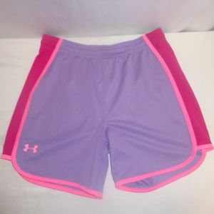 Under Armour XL Shorts Youth Girls Purple/Pink NWT